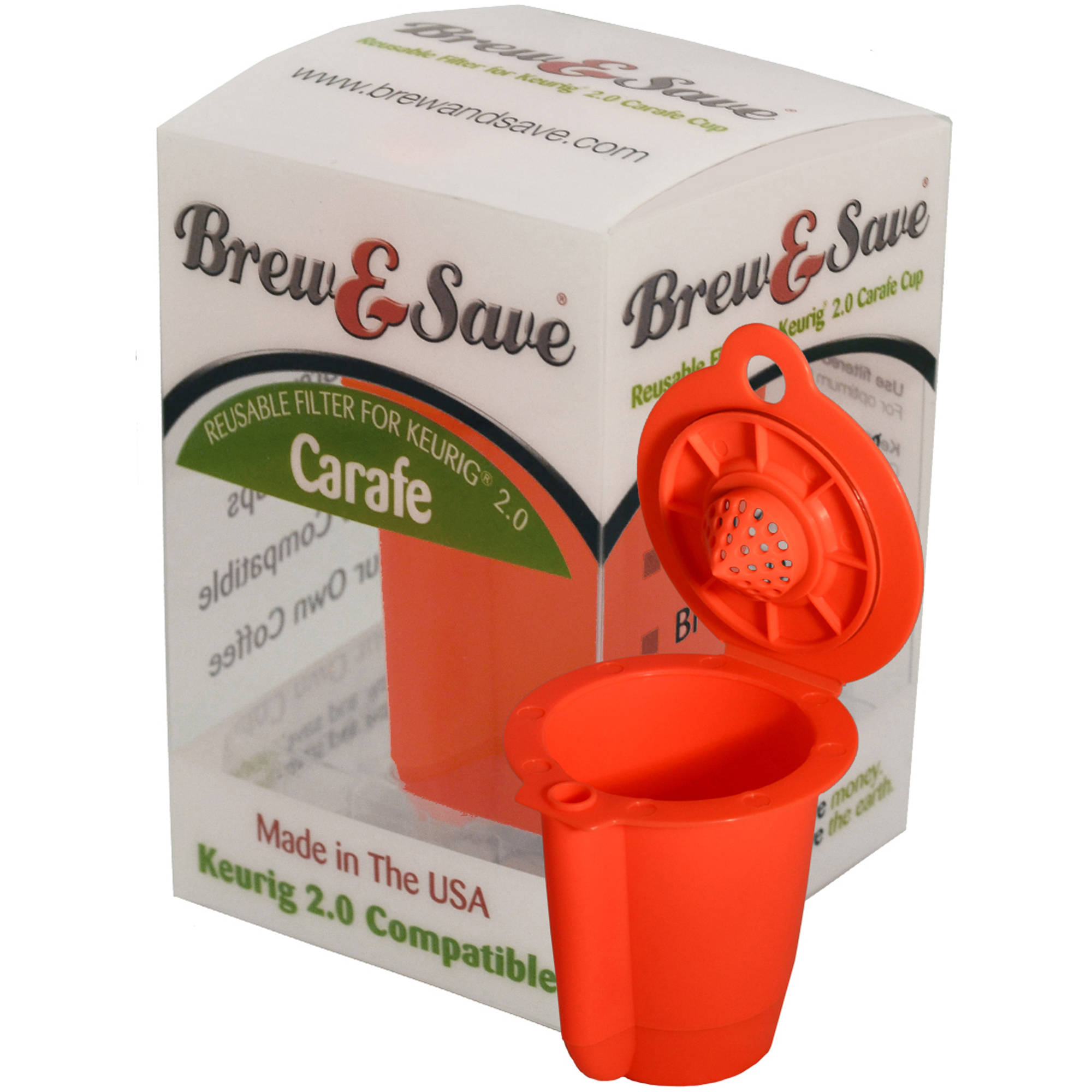 Brew and Save Reusable Carafe Coffee Filter for Keurig 2.0 Brewer