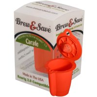Brew & Save Reusable Coffee Filter for Keurig 2.0 Brewer, Orange