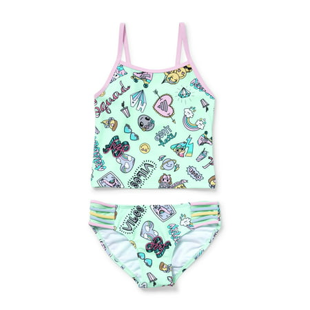 Rainbow Doodles Tankini Swimsuit (Little Girls & Big Girls)