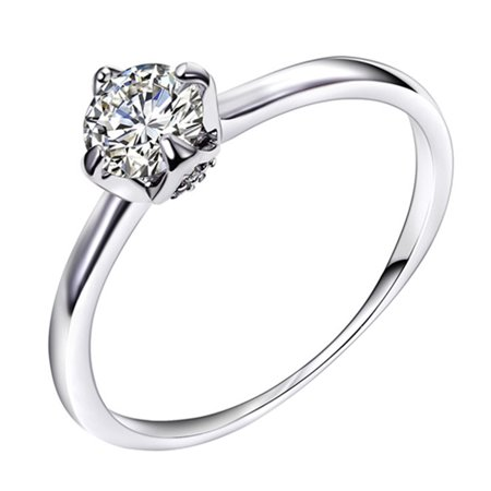 Fahion Simple Women Ring Elegant Engagement Ring Valentine's Day Gift - Valentine Rings