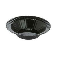 CPC 12ELBP 12 oz Elegant Disposable Hard Plastic Soup Bowls, Black - Case of 18