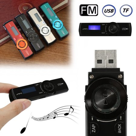 MP3 Music Player  With Clip  Headphones LCD HD USB Support Fashion Media FM Radio Kit Support 32GB Memory Card (No Memory (Move Music From Windows Media Player To Itunes)