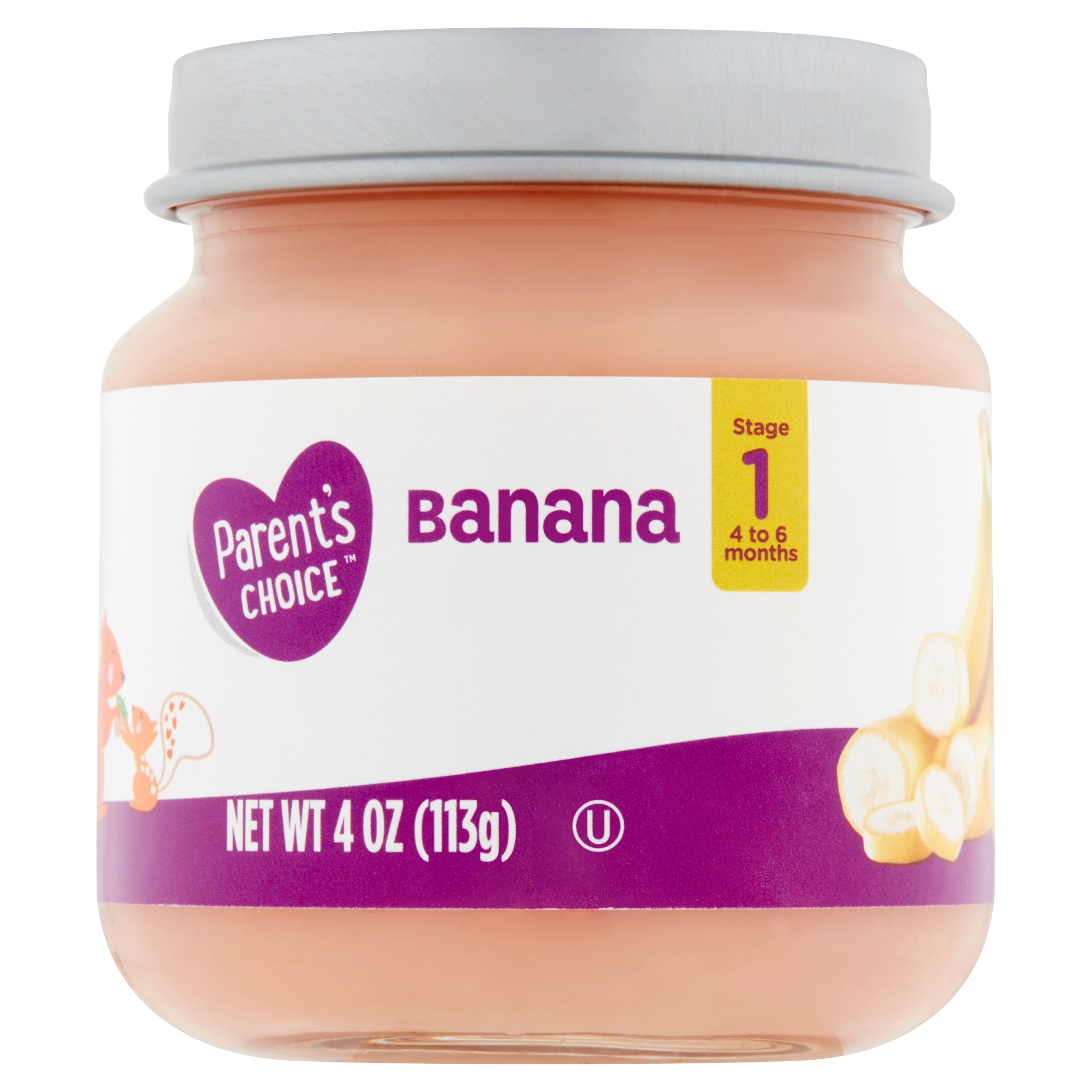 Parent's Choice Baby Food, Banana, Stage 1, 4 oz
