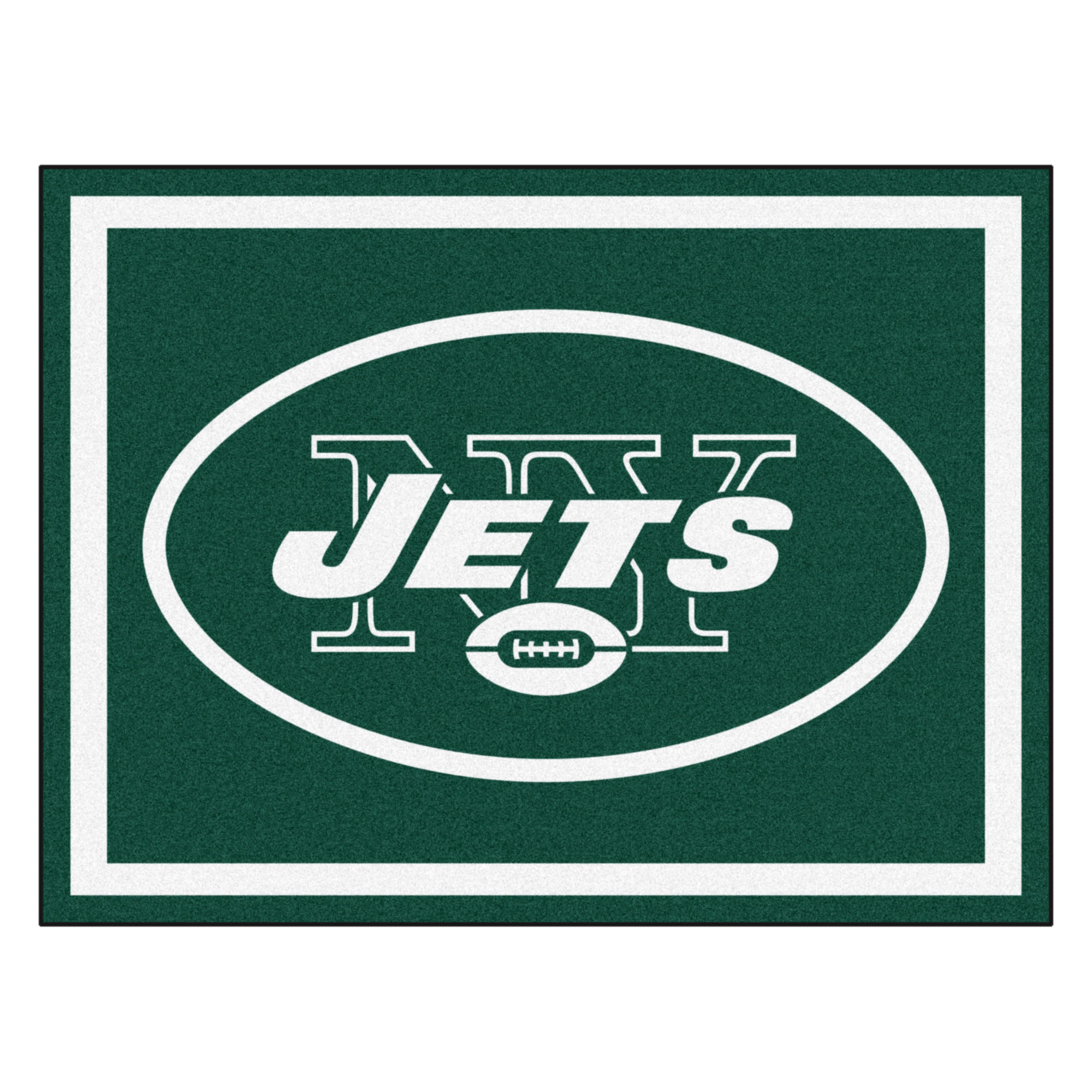 NFL New York Jets 8 x 10 Foot Plush Non-Skid Area Rug
