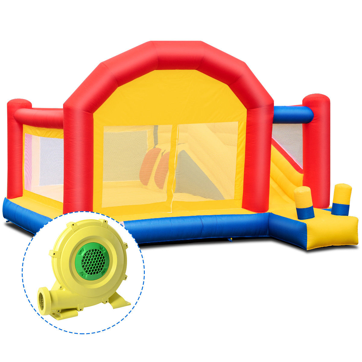 Costway Inflatable Bounce House Slide Bouncer Castle Jumper Playhouse w/ 950W Blower
