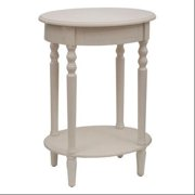 Simplify Oval Accent Table Antique White