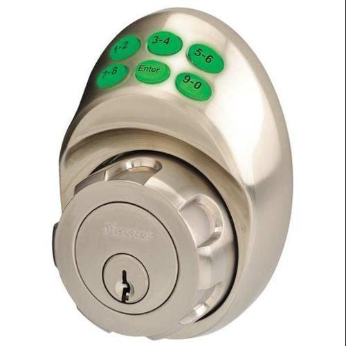 MASTER LOCK DSKP0615D105 Lock and Deadbolt, Satin Nickel, 6 Button
