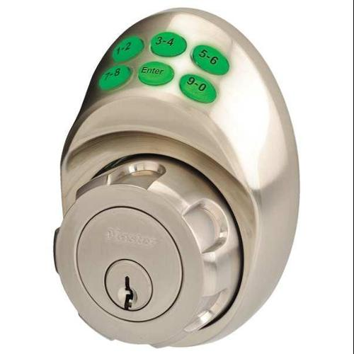 MASTER LOCK DSKP0615D105 Lock and Deadbolt, Satin Nickel, 6 Button