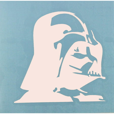 Licenses Products Star Wars Darth Vader Profile Rub-On Sticker, White