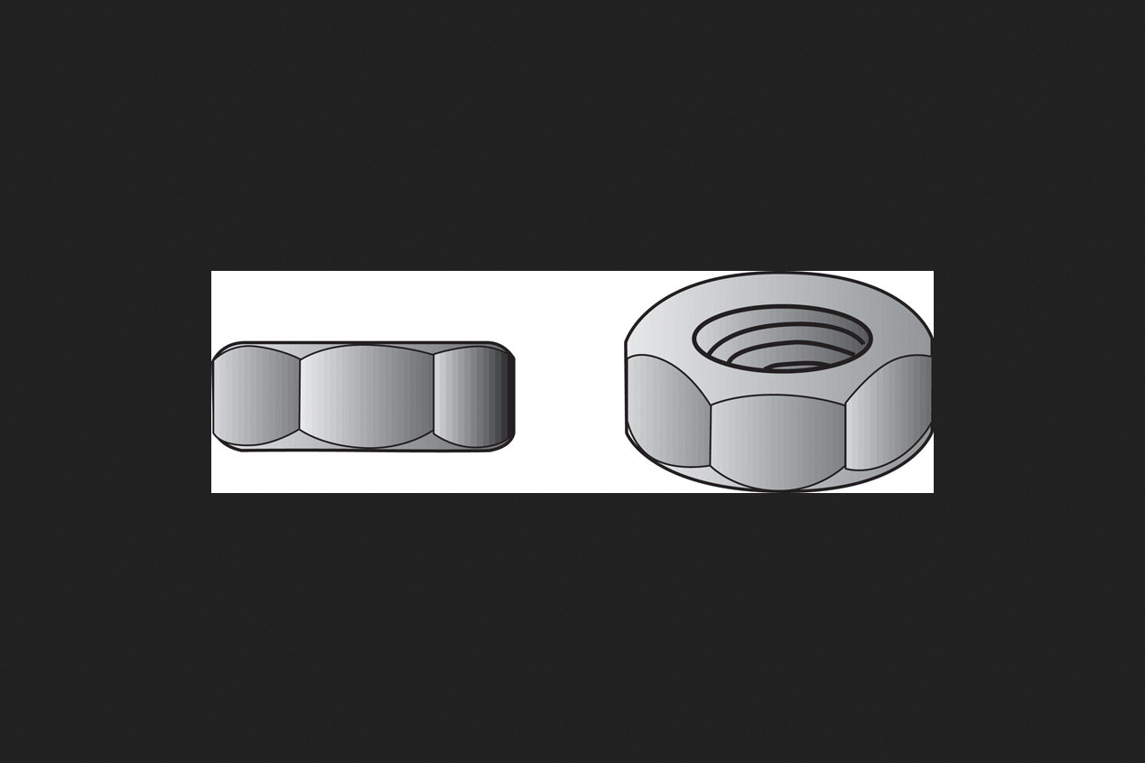10-Pack 7//8-Inch by 14-Inch The Hillman Group 150072 Finish Hex Nut