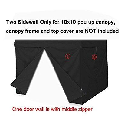 two sidewalls for 10x10 pop up tent canopy side walls with zipper
