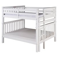 Santa Fe Mission Tall Bunk Bed Full over Full - Bed End Ladder - with Under Bed Drawers, Multiple Finishes