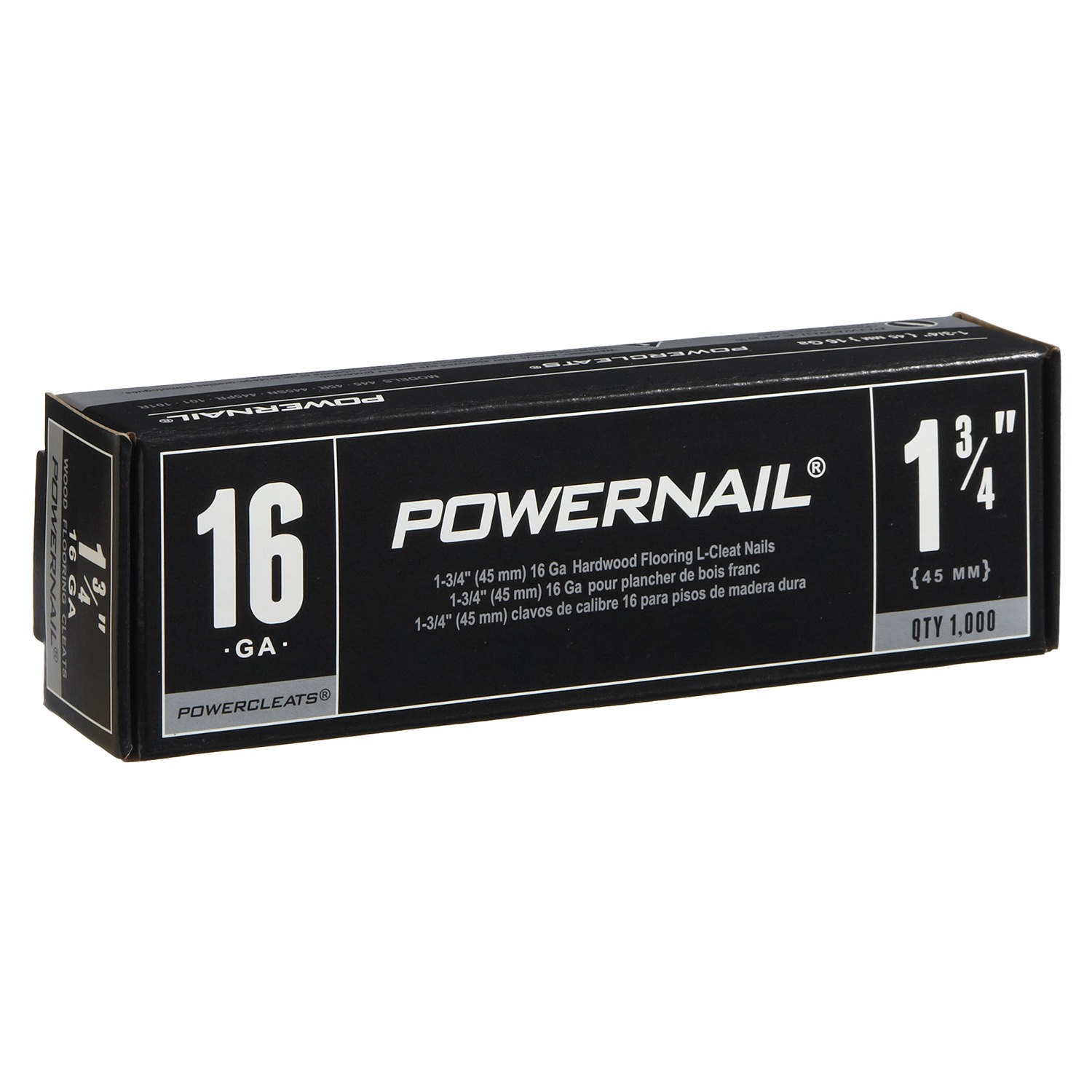 POWERNAIL 16-Gauge 1-3/4-Inch L-Style Flooring Cleat Nail | L17516