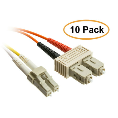ACL 13.12 Feet (4 Meter) LC to SC Fiber Optic Cable, Multimode, Duplex, 50/125, 10 Pack