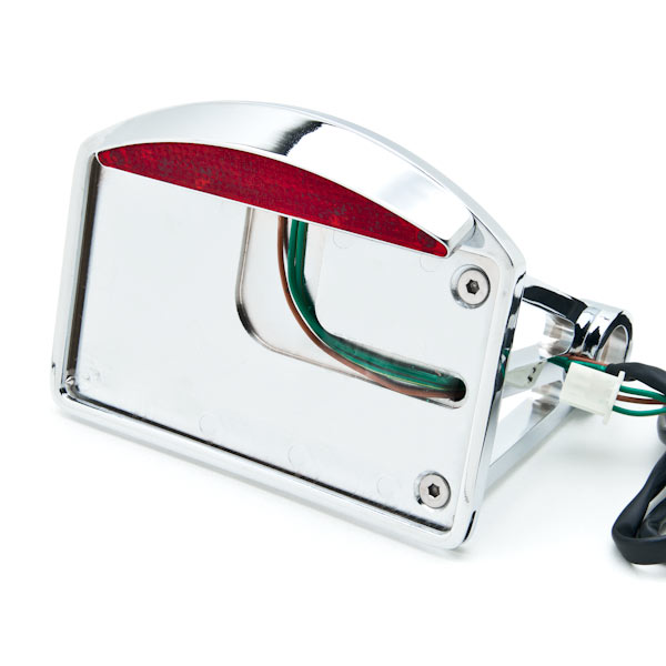 Side Mount License Plate LED Tail Brake Light For Honda VTX 1800 TYPE C R S N F T RETRO - image 7 of 7
