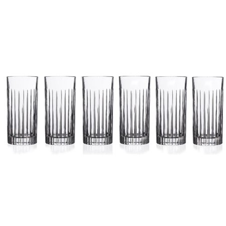 - Lorren Home Trends Timeless RCR 16 oz. Crystal Highball Glass (Set of 6)