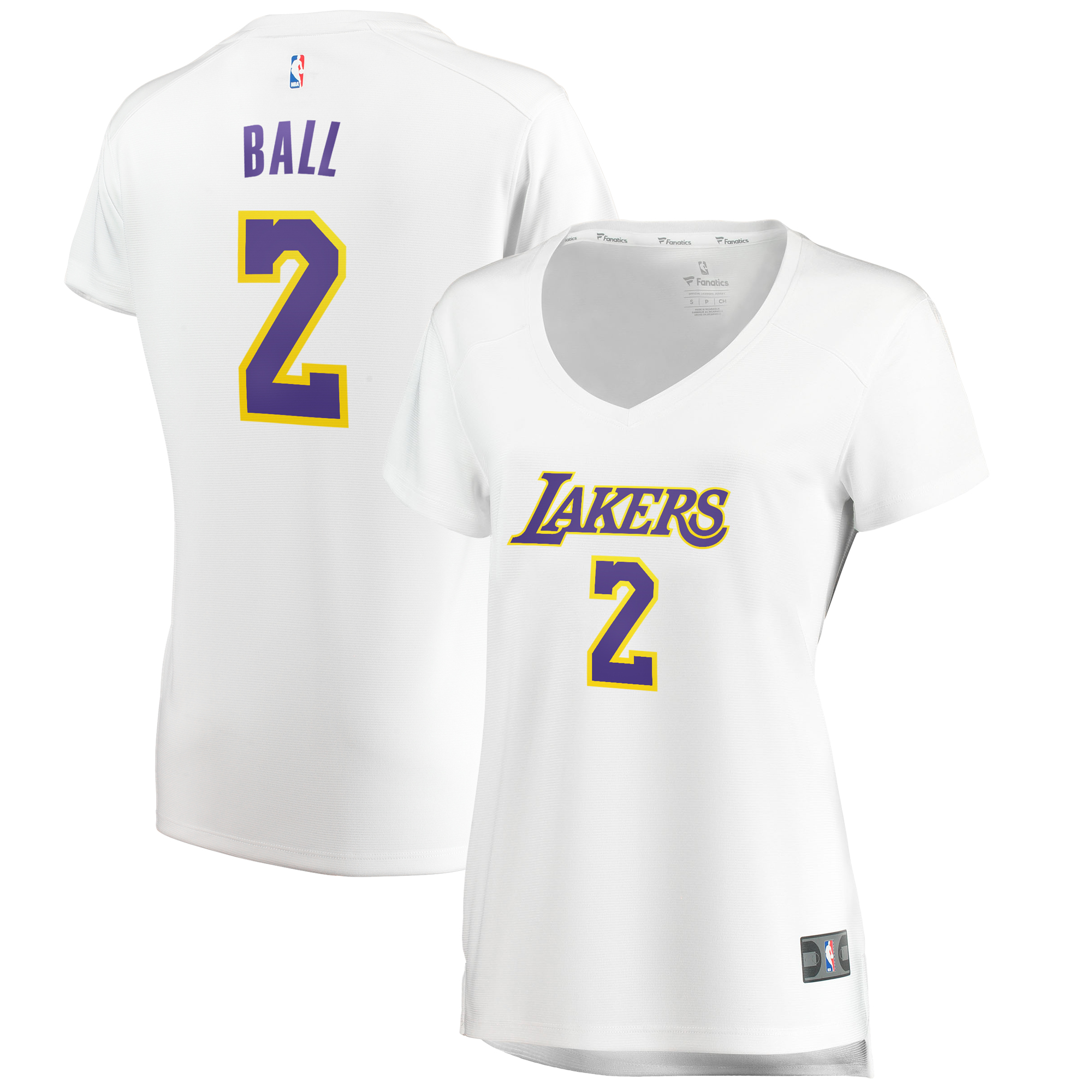 official photos 3e7c1 f35ca Lonzo Ball Los Angeles Lakers Fanatics Branded Women's Fast Break Replica  Jersey Association Edition - White