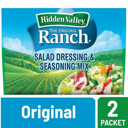 (3 Pack) Hidden Valley Original Ranch Salad Dressing & Seasoning Mix, Gluten Free - 2 Packets Hidden Valley Buttermilk Ranch