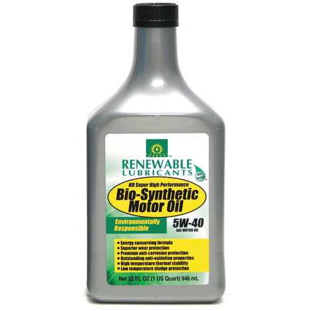 Renewable Lubricants Engine Oil Bio Synthetic 1 Qt  5W40 85251