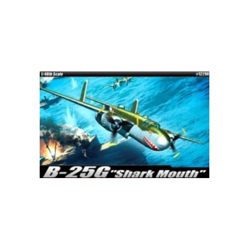 Image of Academy B-25GShark Mouth Airplane Model Building Kit Multi-Colored