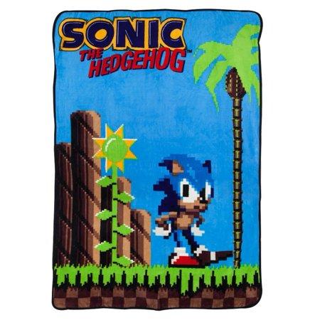 Sonic the Hedgehog 16-Bit Fleece Throw Blanket