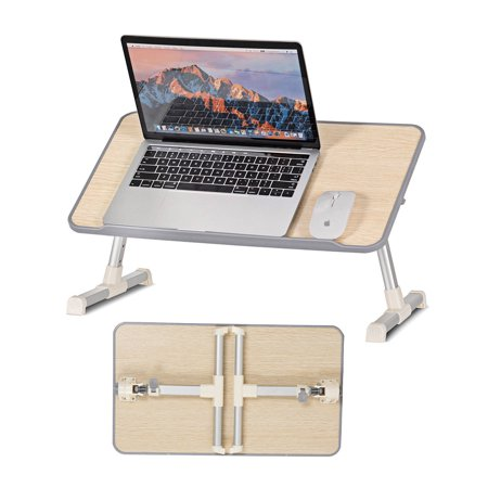 Costway Portable Lap Desk Folding Lazy Laptop Computer Table Adjustable Bed Tray Stand