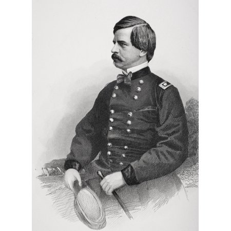 Nathaniel Prentiss Banks 1816 To 1894 Politician Union General During The American Civil War From Photograph By Matthew Brady Canvas Art   Ken Welsh  Design Pics  12 X 17