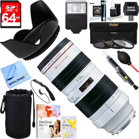 Canon  2569A004  Ef 70 200Mm F 2 8L Usm Lens   64Gb Ultimate Filter   Flash Photography Bundle