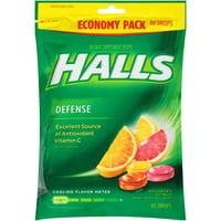(2 Pack) Halls Defense, Assorted Citrus Vitamin C Drops, 80 pcs