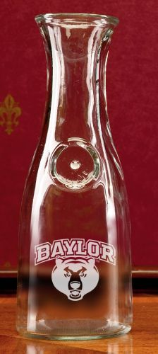 Baylor Bears Deep Etched 1 Litre Wine Carafe by Campus Crystal