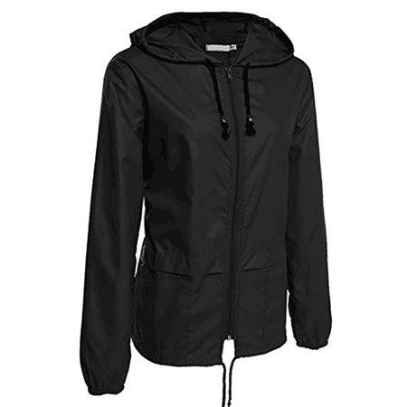 41337f880 JustVH - JustVH Women's Lightweight Jackets Waterproof Windbreaker Packable  Outdoor Hooded Active Hiking Raincoat - Walmart.com