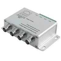 Unique Bargains Silvery UTP 4 Channel Passive Video Balun Transceiver