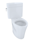 TOTO® Nexus® Two-Piece Elongated 1.6 GPF Universal Height Skirted Design Toilet, Cotton White - CST794SF#01