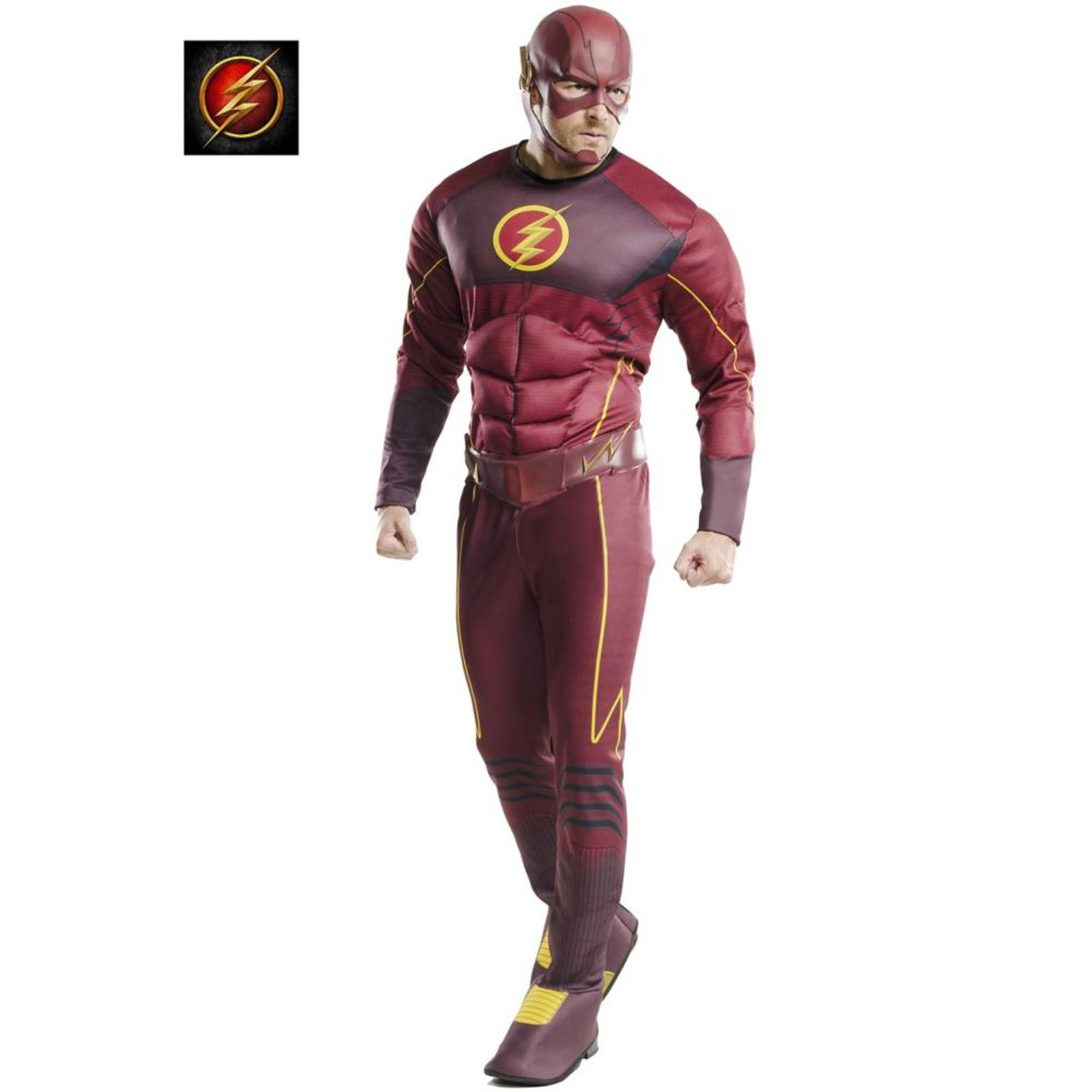 Men's Deluxe Flash Adult Costume XL