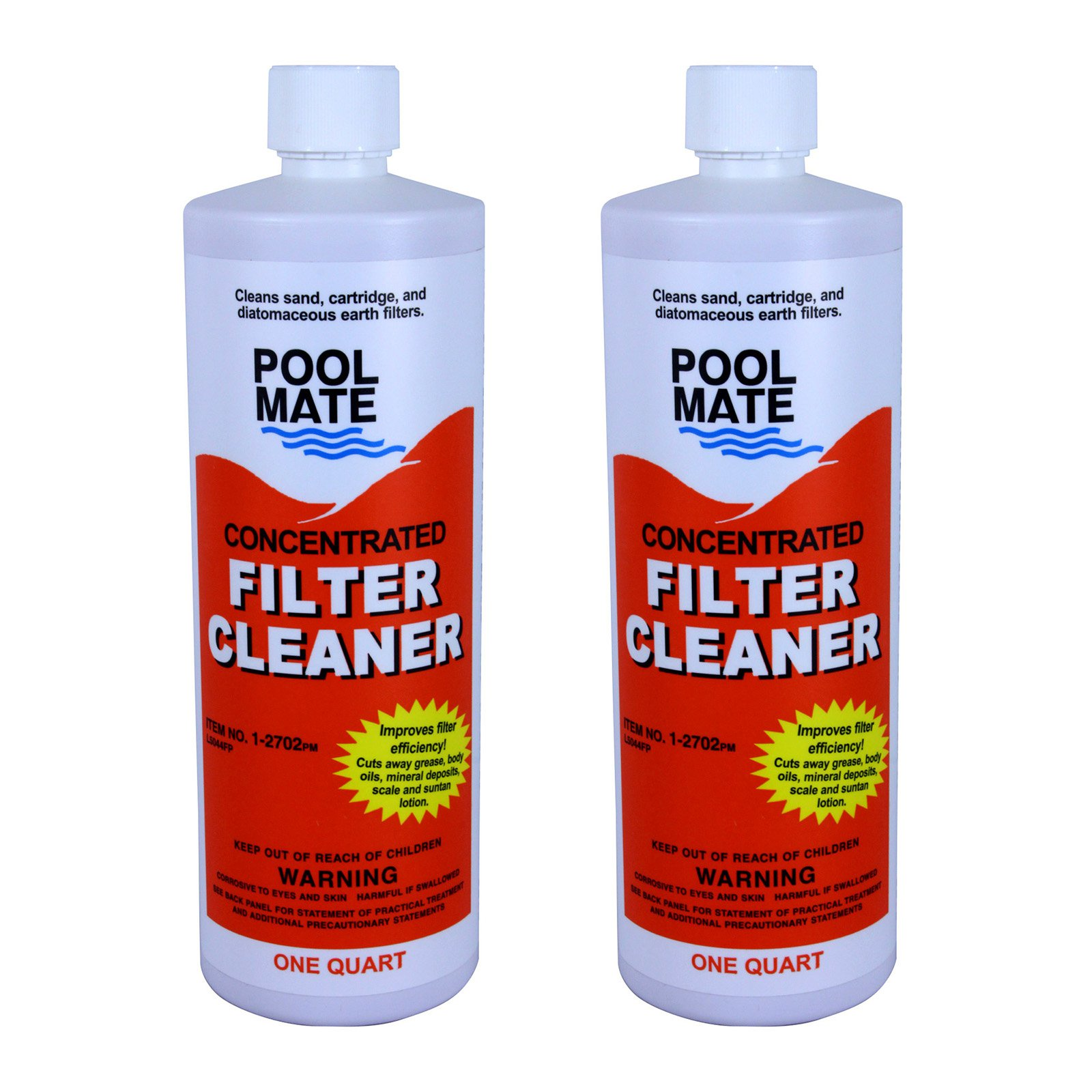 Pool Mate 1-Quart Liquid Filter Cleaner for Swimming Pools