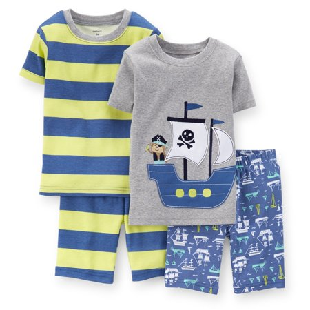 Carters Baby Clothing Outfit Boys 4-Piece Snug Fit Cotton PJs Pirate Ship Stripe (Pirate Outfit Ideas)