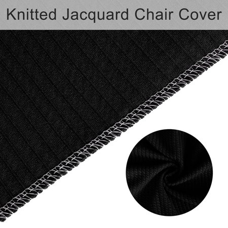 Stretch Knit Jacquard Chair Cover High Back Seat Cover Slipcover Protector Black - image 2 de 7