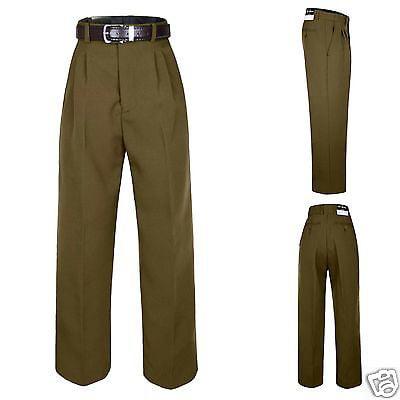 Boy Kid Teen Formal Party Suits School Uniform Dark Taupe Brown Pants Belt 8-20