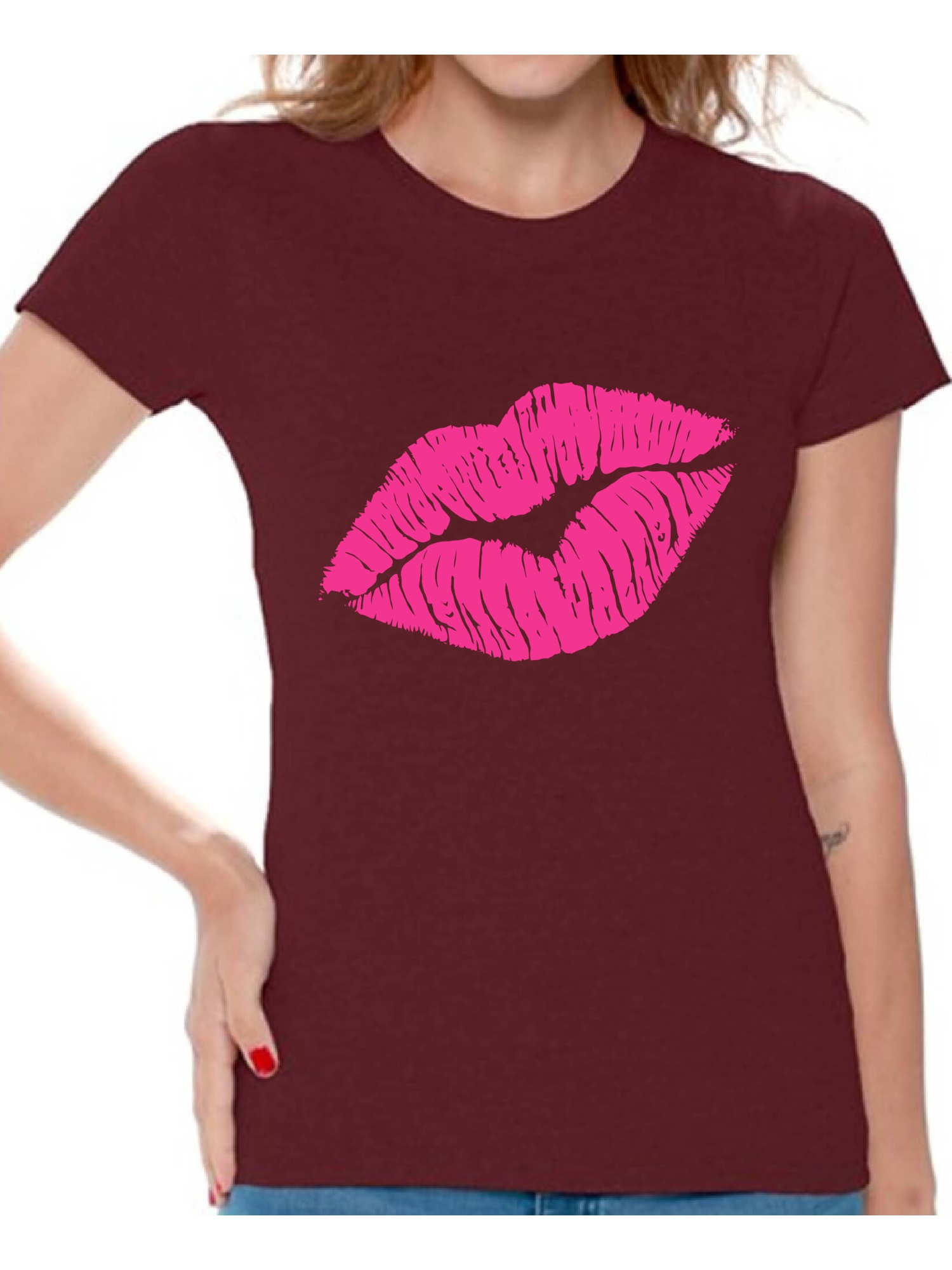 8675f4ca3 Awkward Styles Pink Lips Shirt Retro 80s Neon Lips T Shirt 80s Shirt 80s T  Shirt Retro Vintage 80s Costume 80s Clothes for Women 80s Outfit 80s Party  Girl ...