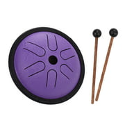 5.5 Inches Mini Steel Tongue Drum 6 Notes Handpan Drum Steel Pocket Drum Percussion Instrument with Mallets Carry Bag for Meditation Yoga Zazen