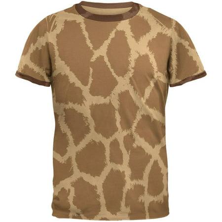 Giraffe Pattern Mens Ringer T Shirt