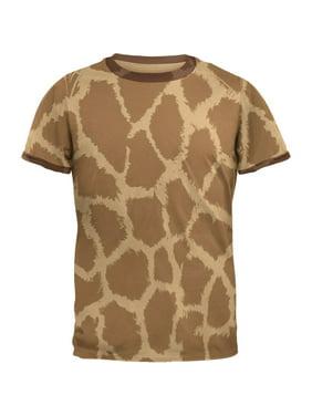 175cedf10159 Product Image Giraffe Pattern Mens Ringer T Shirt