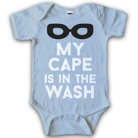 Infant My Cape Is In The Wash Superhero Baby Creeper One Piece Romper Bodysuit - Superhero Bodysuit