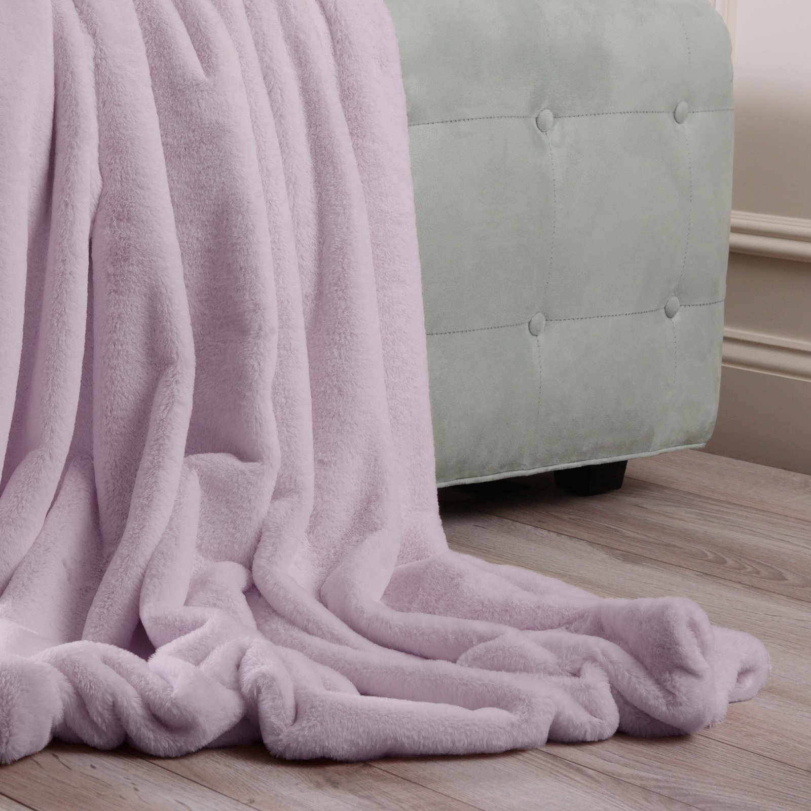Best Home Fashion Luxe Faux Fur Throw