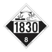 LABELMASTER 35ZL48 Corrosive Plcard,10-3/4inx10-3/4in,Vinyl G2277348