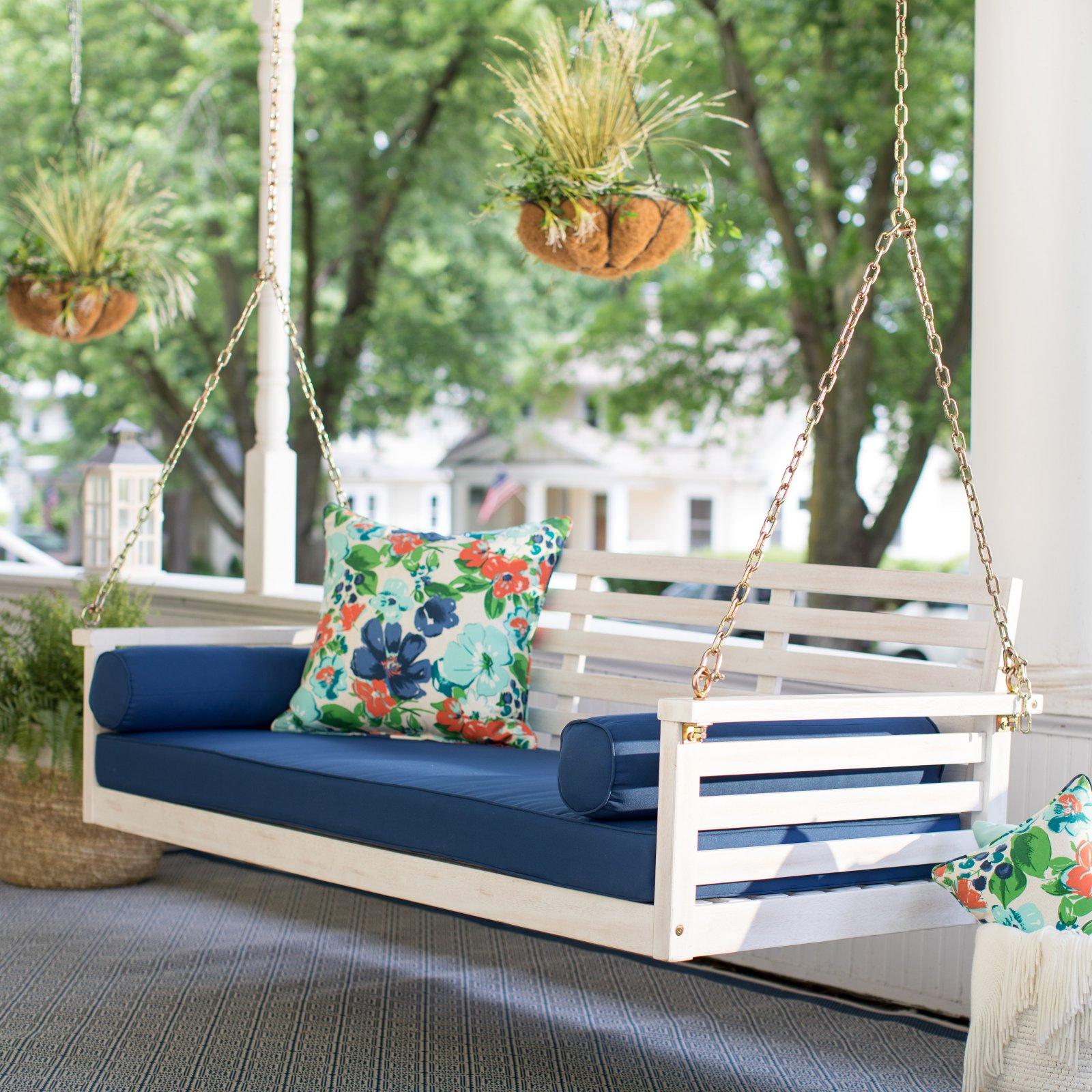 Belham Living Brighton Beach Deep Seating Porch Swing Bed with Cushion