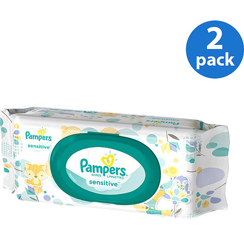 Pampers Sensitive Wipes Travel Pack, 56 Count (Pack of 2)