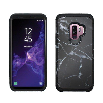 cheap for discount 72d7b 85837 Black White Marble Design Duo Slim Case For Samsung Galaxy S9 Phone
