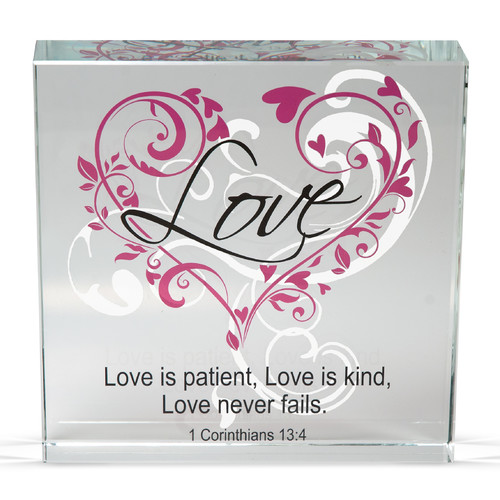 Angelstar Love Clearly Inspired Textual Art Plaque (Set of 2)