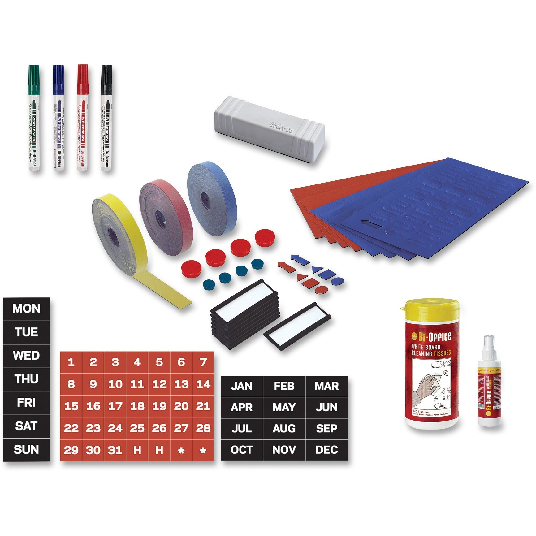 MasterVision, BVCKT1317, MV Prof. Magnetic Board Accessory Kit, 1 Each